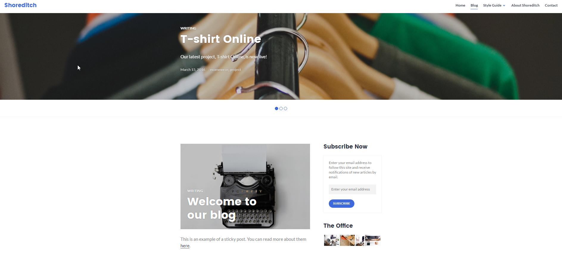 Free WordPress Theme Blog