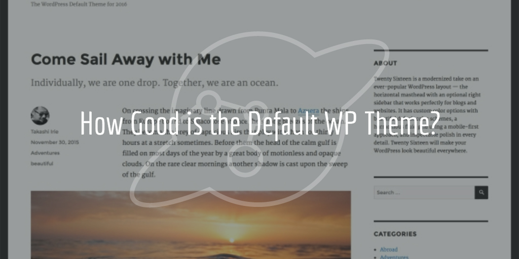 Default WordPress Theme Twenty Sixteen
