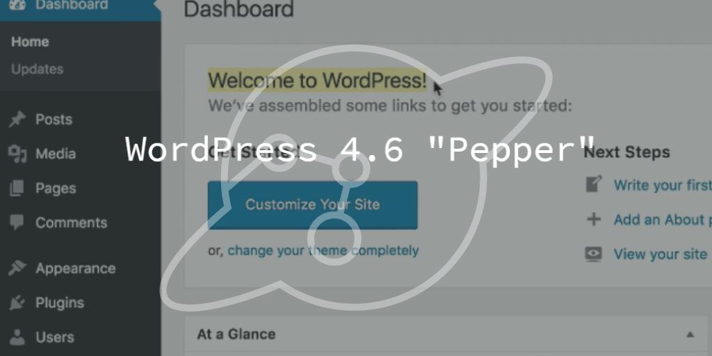 """WordPress 4.6 Update """"Pepper"""""""